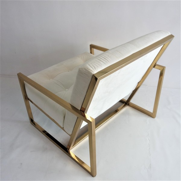 GOLD FRAME LOUNGE CHAIR- FRM71834