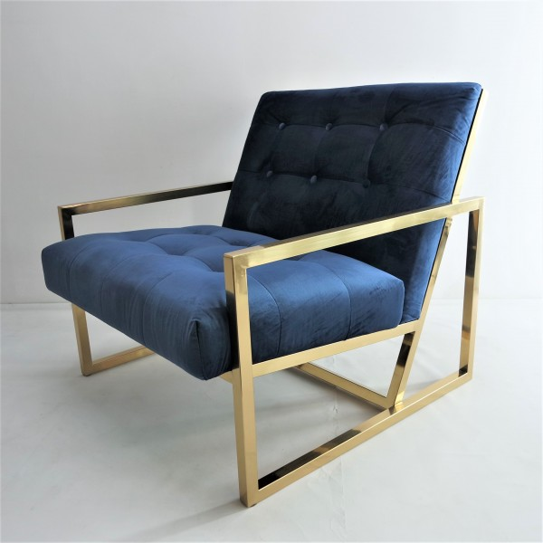 GOLD FRAME LOUNGE CHAIR- FRM71835