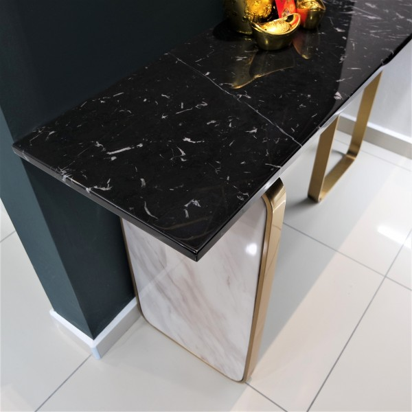 RECTANGLE MARBLE CONSOLE TABLE - FRM51602