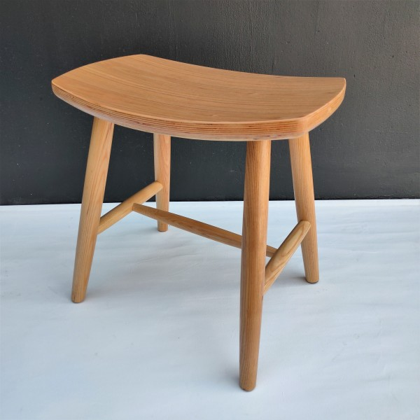 SOLID ASH WOOD STOOL - FRM1099-NA1