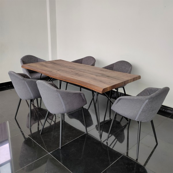 1.8M WALNUT DINING TABLE - FRM51794
