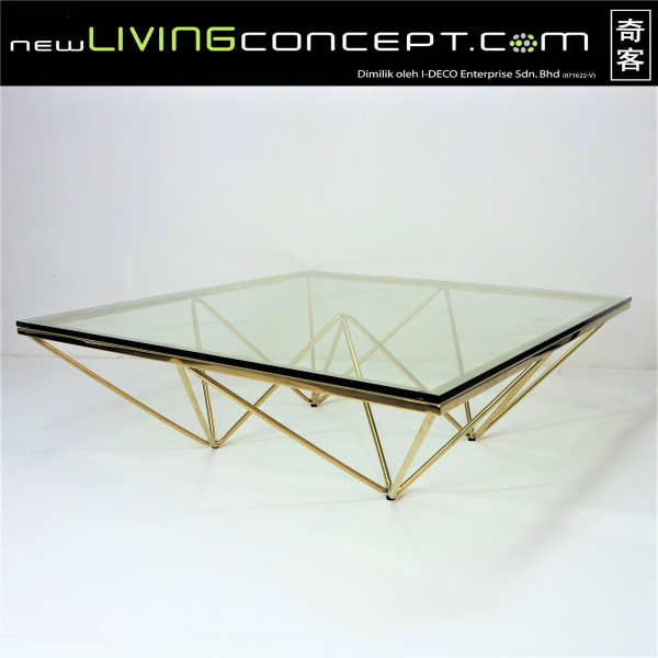 GOLD COFFEE TABLE - FRM3068-GD1