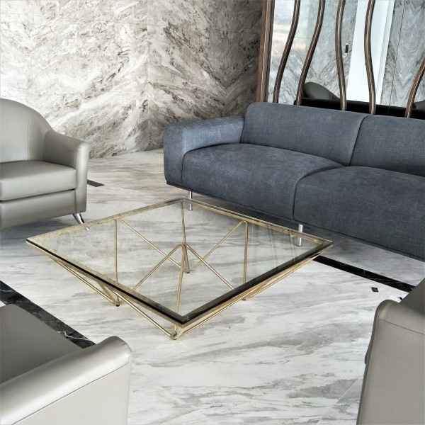 GOLD COFFEE TABLE - FRM3068-GD5