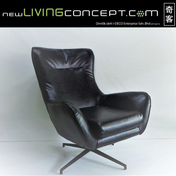 BLACK LOUNGE CHAIR - FRM7169-PB1