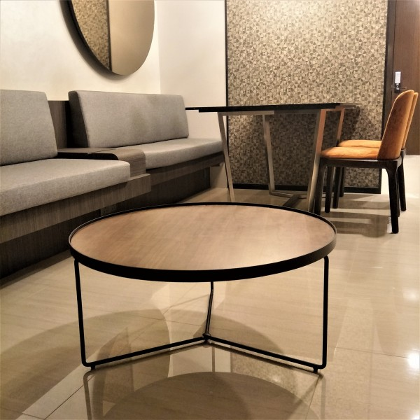 WALNUT TOP COFFEE TABLE - FRM3079-WN5