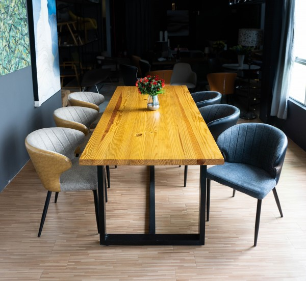 8FT SOLID PINE WOOD DINING TABLE - FRM5050B3