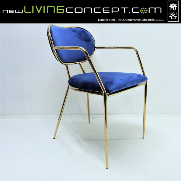GOLD DINING CHAIR - FRM02181