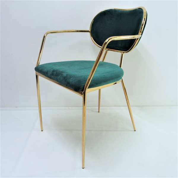 GOLD DINING CHAIR - FRM02182