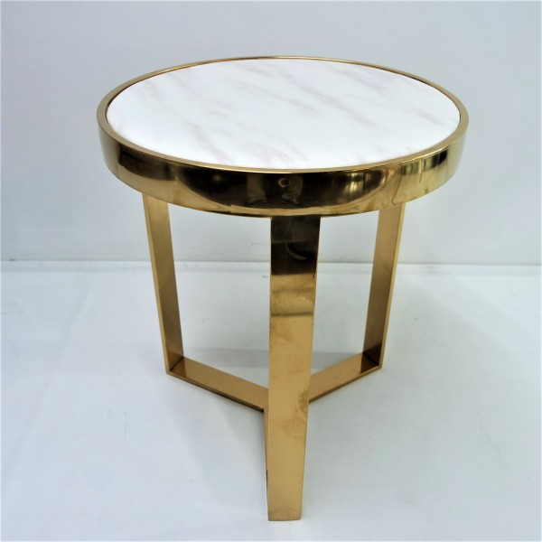 MARBLE ROUND SIDE TABLE - FRM2097-G3