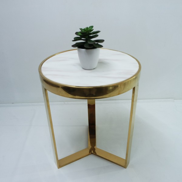 MARBLE ROUND SIDE TABLE - FRM2097-G6