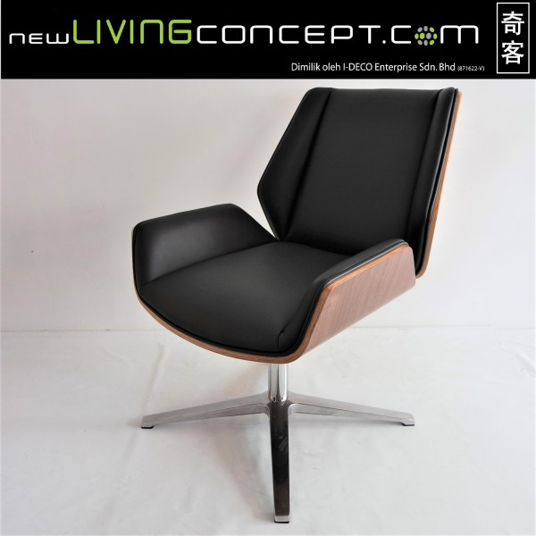 PU BLACK OFFICE CHAIR - FRM9027A-PB1