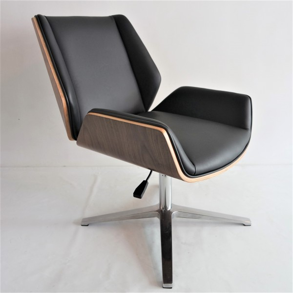 PU BLACK OFFICE CHAIR - FRM9027A-PB2