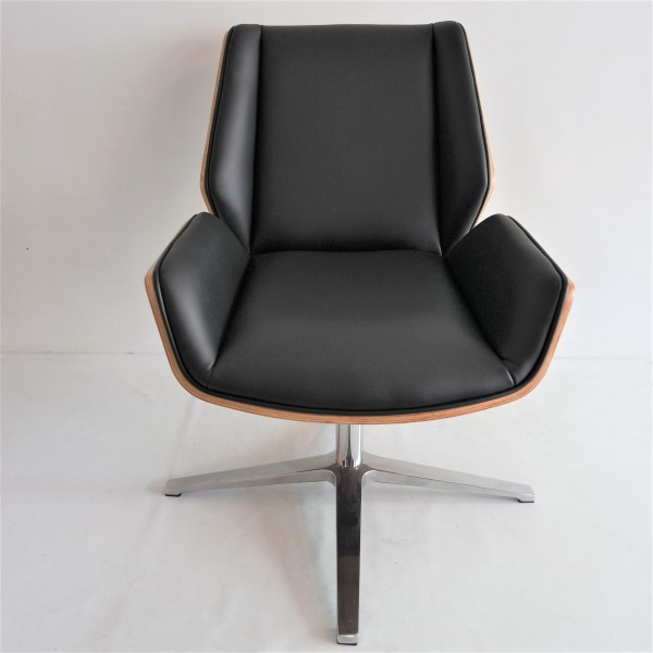 PU BLACK OFFICE CHAIR - FRM9027A-PB3