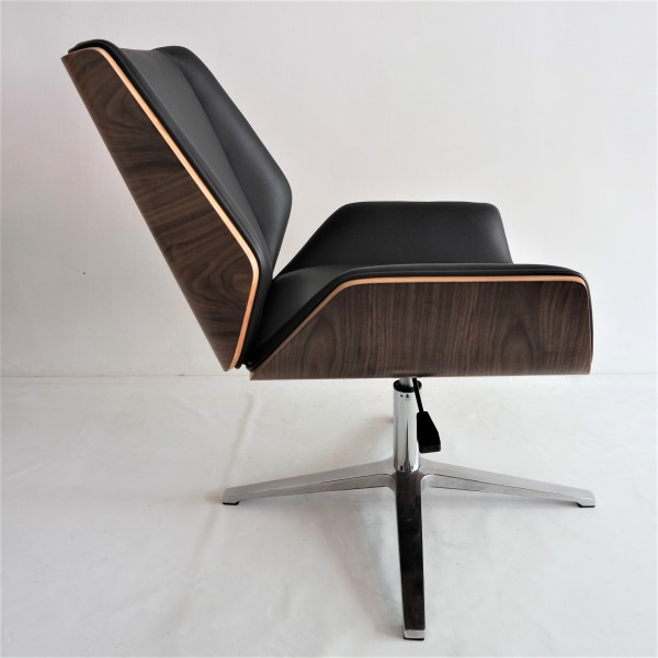 PU BLACK OFFICE CHAIR - FRM9027A-PB5