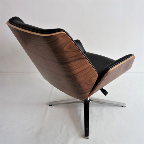 PU BLACK OFFICE CHAIR - FRM9027A-PB6