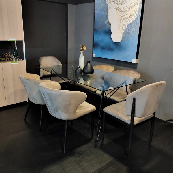 FRM5184 GLASS DINING TABLE5