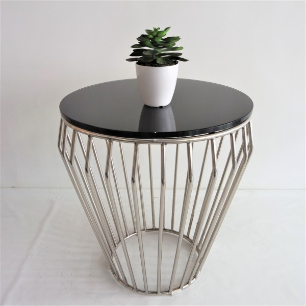 GLASS SIDE TABLE - FRM30571