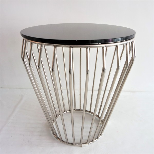 GLASS SIDE TABLE - FRM30572