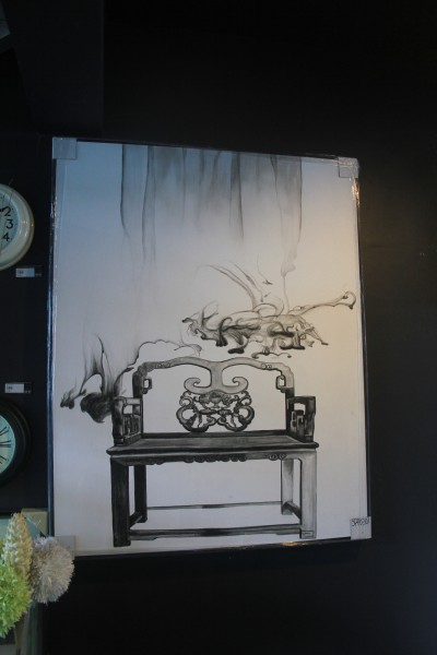 SPP0301 WOOD CHAIR OIL PAINTING2